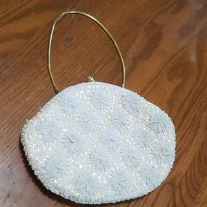 Handbags - Beaded purse clutch handmade Hong Kong 1060's